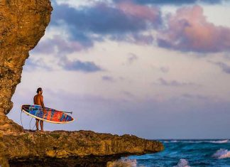 sup surf barbados Jason Latham