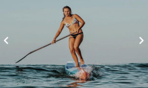 Fiona Wylde Starboard Sup stand up paddle surfing Tahiti