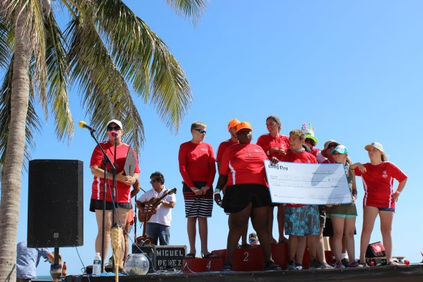 Special Olympics check presentation, 2018 Key West Paddle Class